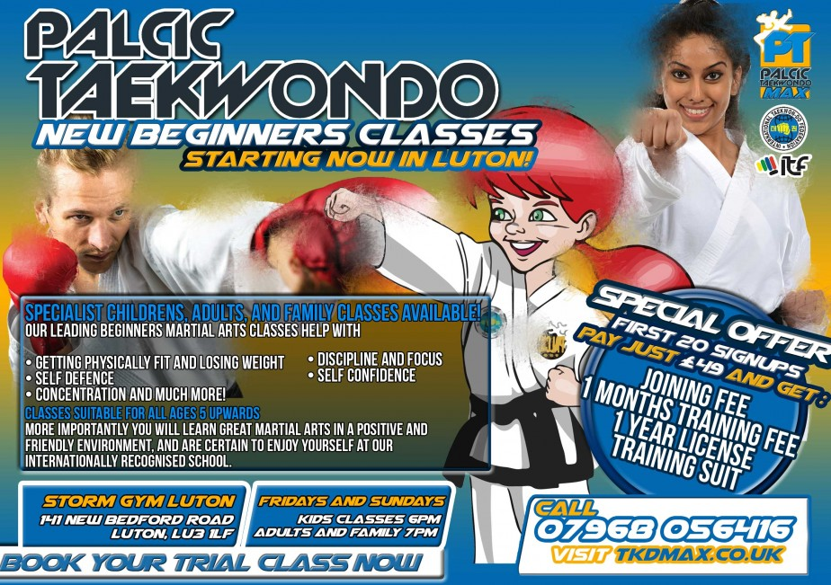Luton Martial Arts Flyer